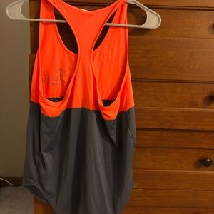 Orange and gray PINK sport tank - Size S